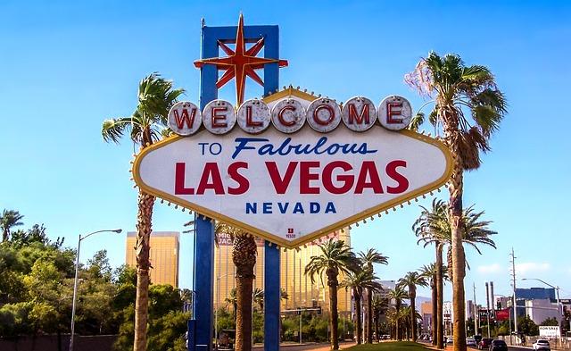 Photograph of the famous Las Vegas sign