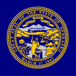 Picture of the official flag of Nebraska state
