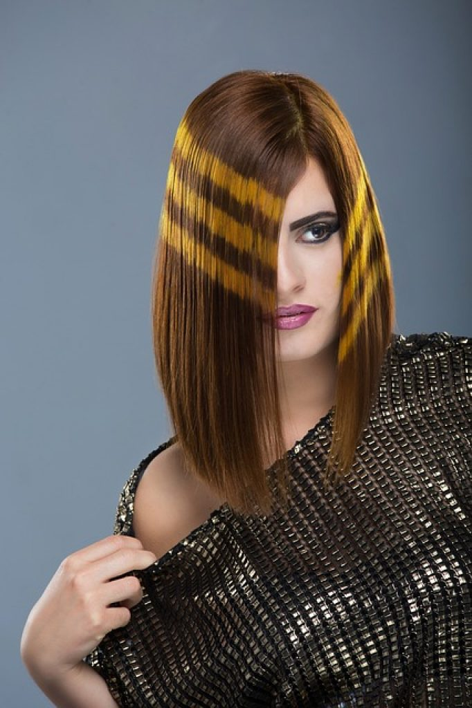 Photograph of a result of work of a great hairstylist